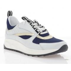 Кросівки жіночі білі/сині, шкіра/сітка (3113 біл. Шк_сн. СТК) Roma style