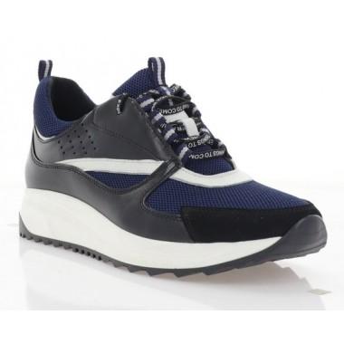 Купити Кросівки жіночі чорні/сині, шкіра/сітка (3113 чн. Шк_сн. СТК) Roma style за найкращими цінами