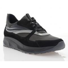Кросівки жіночі чорні/сірі, замш/шкіра (3113 чн. Зш_графіт) Roma style