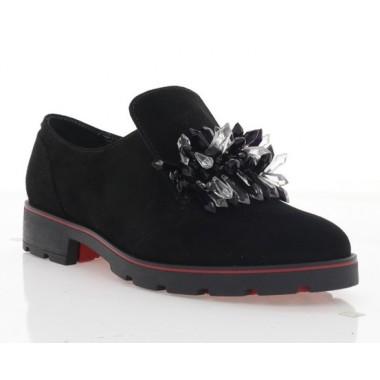 Купить Туфли женские черные, замша (3115 чн. Зш_чн. кристали) Roma style по лучшим ценам
