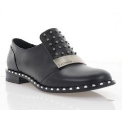 Туфли женские черные, кожа (3117 чн. Шк) Roma style