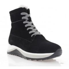 Ботинки женские черные, замша (3201 чн. Зш (шерсть)) Roma style