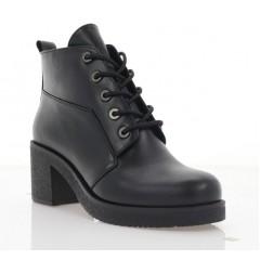Ботинки женские черные, кожа (3202 чн. Шк (байка)) Roma style