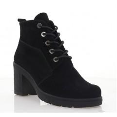 Ботинки женские черные, замша (3202 чн. Зш (байка)) Roma style