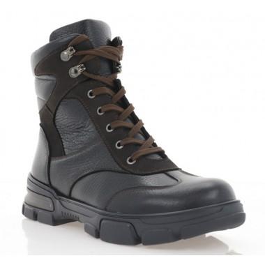 Купити Черевики підліткові чорні/коричневі, шкіра (3203 П чн. Фл_кор (шер)) Roma style за найкращими цінами