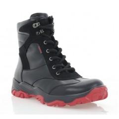 Ботинки подростковые черные, кожа (3203П чн. Шк + Нб (шер)) Roma style