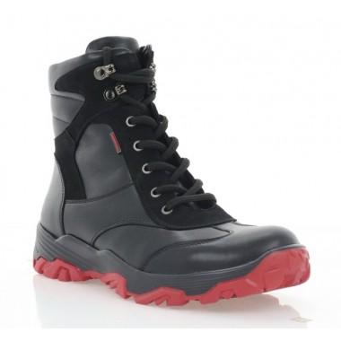 Купить Ботинки подростковые черные, кожа (3203П чн. Шк + Нб (шер)) Roma style по лучшим ценам