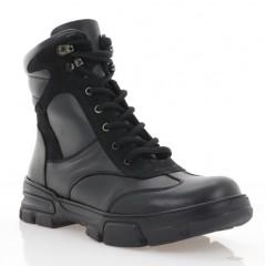 Черевики підліткові чорні, шкіра (3203 П чн. Шк (шер)) Roma style