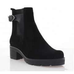 Ботинки женские черные, замша (3204 чн. Зш (байка)) Roma style