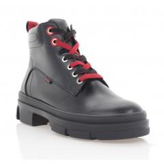 Ботинки женские черные, кожа (3206-20 чн. Шк (шерсть)) Roma style