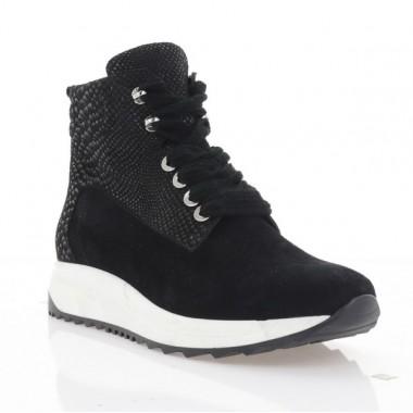 Купить Ботинки женские черные, кожа (3206 чн. перл. Шк (шер)) Roma style по лучшим ценам