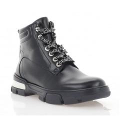 Ботинки женские черные, кожа (3206 чн. Шк (шерсть)) Roma style