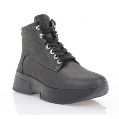Купить Ботинки женские черные, кожа (3206 сатин Фл (шер)) Roma style по лучшим ценам