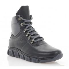 Ботинки подростковые черные, кожа (3207П чн. Фл (шерсть)) Roma style