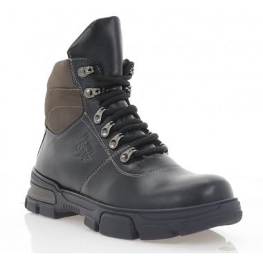 Купити Черевики підліткові чорні, шкіра (3207П чн. Шк (шерсть)) Roma style за найкращими цінами
