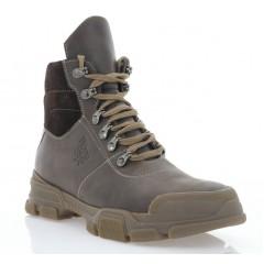 Ботинки подростковые коричневые, кожа (3207П кор. Шк (шер)) Roma style