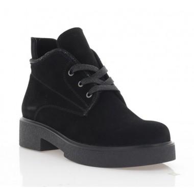 Ботинки женские черные, замша (3211 чн. Зш (байка)) Roma style