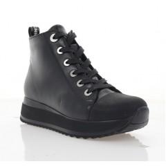 Ботинки женские черные, кожа (3213 чн. Шк (бай)) Roma style