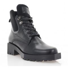 Ботинки женские черные, кожа (3214 чн. Шк (байка)) Roma style