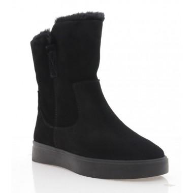 Ботинки женские черные, замша (3222 чн. Зш (шерсть)) Roma style