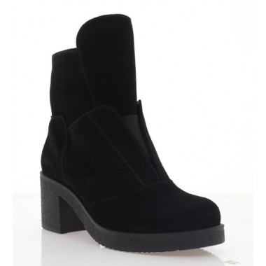 Ботинки женские черные, замша (3224 чн. Зш (шерсть)) Roma style