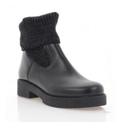 Ботинки женские черные, кожа (3227 чн. Шк (шерсть)) Roma style