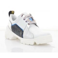 Кросівки жіночі білі/срібні, шкіра (3232 біл. Шк_срібн) Roma style