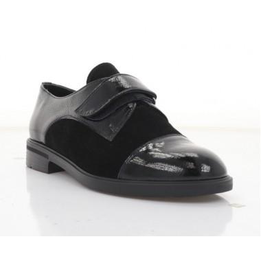 Туфлі жіночі чорні, лакована шкіра/замш (3233 чн. Лк+Зш) Roma style