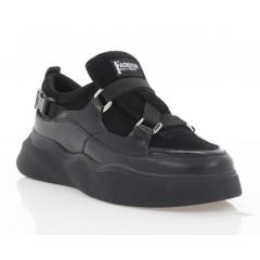 Кросівки жіночі чорні, шкіра/замш/лакована шкіра (3245 чн. Шк+Зш) Roma style