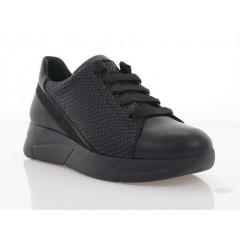 Кросівки жіночі чорні, шкіра (3246 чн. Шк) Roma style