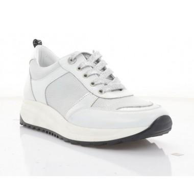 Купити Кросівки жіночі білі/срібні, шкіра (3247 біл. Шк_срібн) Roma style за найкращими цінами