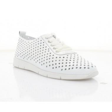 Туфли женские белые, кожа (3248 біл. Шк) Roma style