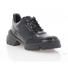 Туфли женские черные, лакированная кожа (3253 чн. Лк) Roma style