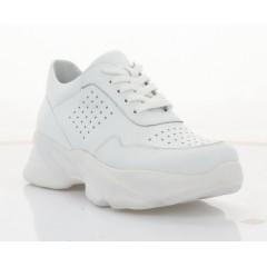 Кросівки жіночі білі, шкіра (3258-21 біл. Шк) Roma style