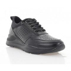 Кросівки жіночі чорні, шкіра (3258 чн. Шк) Roma style