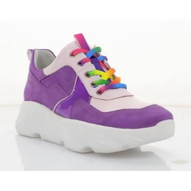 Кросівки жіночі фіолетова/рожева, шкіра (3263 фіол. Шк) Roma style