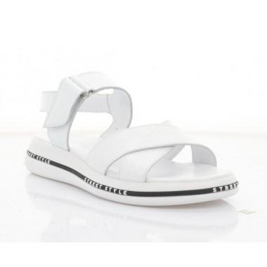 Купить Босоножки женские белые, кожа (3268 біл. Шк) Roma style по лучшим ценам