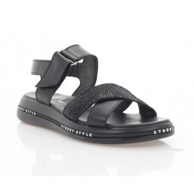 Купить Босоножки женские черные, кожа (3268 чн. Шк) Roma style по лучшим ценам