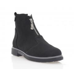 Ботинки женские черные, нубук (3271 чн. Нб (шерсть)) Roma style
