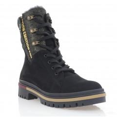 Ботинки женские черные, нубук (3273 чн. Нб (шерсть)) Roma style