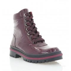 Ботинки женские бордовые, кожа/лакированная кожа (3274 бордо Лк (байка)) Roma style