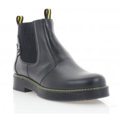 Ботинки женские черные, кожа (3276 чн. Шк (шерсть)) Roma style