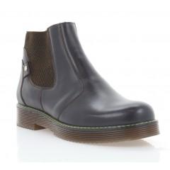 Ботинки женские коричневые, кожа (3276 кор. Шк (шерсть)) Roma style