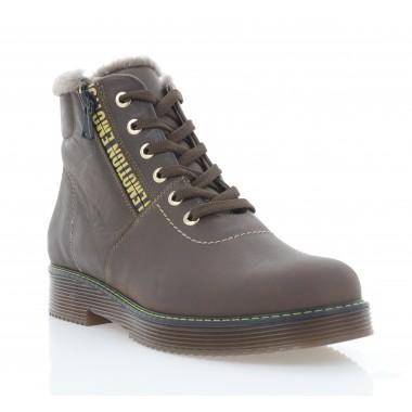 Ботинки женские коричневые, нубук (3279 кор. Нб (шерсть)) Roma style