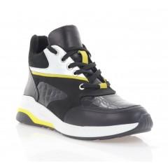 Кросівки жіночі чорні/жовті, шкіра/нубук (3285 чн. Шк_жовт (байка)) Roma style