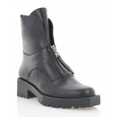 Ботинки женские черные, кожа (3287 чн. Шк (шерсть)) Roma style