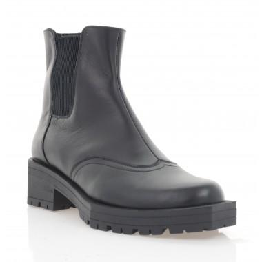 Ботинки женские черные, кожа (3296 чн. Шк (байка)) Roma style