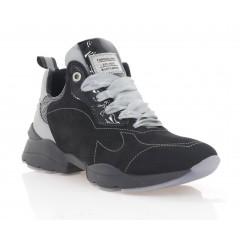 Кросівки жіночі чорні/сірі, нубук (3299 чн. Нб) Roma style