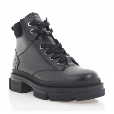 Ботинки женские черные, кожа (3300 чн. Шк (байка)) Roma style