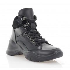Кросівки жіночі чорні, шкіра (3302 чн. Шк (байка)) Roma style